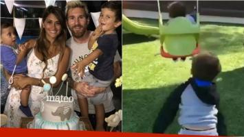 ¡Súper tiernos! Mirá el video del hijo mayor de Messi hamacando a su hermanito. Foto: Instagram