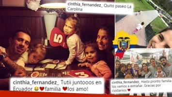 ¡Ansiado reencuentro! Cinthia Fernández y sus hijas junto a Matías Defederico