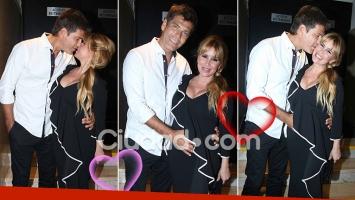 ¡Acá hay amor! Flor Peña, embarazada y mimosa junto a Ramiro Ponce de León. (Foto: Movilpress)