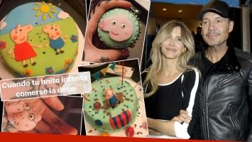 Marcelo Tinelli y Guillermina Valdés festejaron los tres años de Lorenzo.