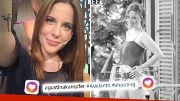 Agustina Kämpfer compartió la primera foto de su pancita embarazada. (Foto: Instagram)