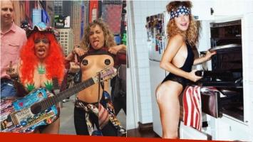 ¡Desprejuiciada total! El topless de Anita Pauls en Times Square: