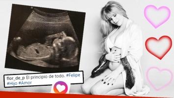 ¡Hay ecografía! Florencia Peña compartió la primera imagen de su bebé.