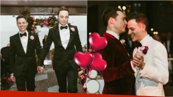 Jim Parsons, el protagonista de The Big Bang Theory, se casó con su novio después de 14 años juntos. Foto: Instagram