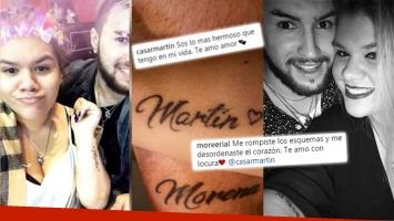 ¡Romance en la piel! Morena Rial y su novio se tatuaron sus nombres