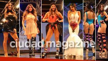 Loly Antoniale, Lourdes Sánchez, Ingrid Grudke, Barby Franco y Barbie Vélez, sensuales en la pasarela. Foto: Movilpress