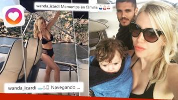 ¡Diosa de vacaciones! Wanda Nara, súper sexy en bikini en un yate en plena Costa Azul: