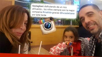 ¡Reencuentro! Lizy Tagliani y un emotivo almuerzo con su ex, Lucas Tisera, y su hija