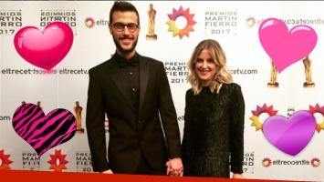 ¡De la manito a todos lados! Diego Leuco, inseparable de su novia en los Martín Fierro 2017