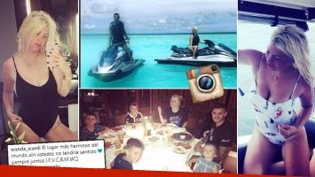 Las paradisíacas vacaciones familiares de Wanda Nara en Maldivas