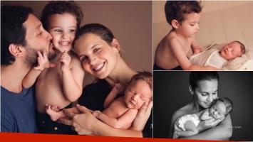 ¡¡Lluvia de corazones! Las fotos súper tiernas de Germán Paoloski y Sabrina Garciarena con sus hijos: