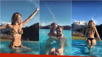 Melina Pitra, súper hot en sus vacaciones familiares con Fabián Assmann en Bariloche