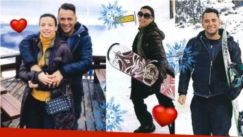 Las fotos de Mercedes Funes y Cecilio Flemmati, enamorados en Bariloche. Foto: Revista Caras