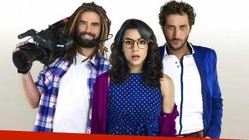 Nicolás Furtado, Agustina Cherri y Luciano Castro, protagonistas de Fanny, la Fan, ficción que fue levantada de la pantalla de Telefe. (Foto: Telefe)