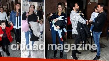 ¡Famosos en familia! Muchas celebrities con sus hijos en la despedida de las vacaciones de invierno. (Foto: Movilpress)