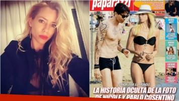 La reacción de Nicole Neumann al ver su polémica tapa con Cosentino. Foto: Revista Paparazzi/ Instagram