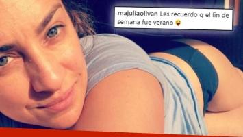 La selfie ratonera de María Julia Oliván.