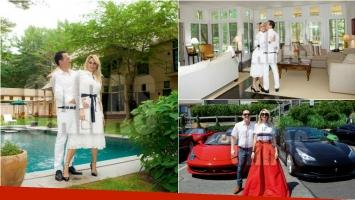 Vicky Xipolitakis abrió las puertas de la mansión en los Hampton de Javier Naselli, su novio. Foto: Revista Caras