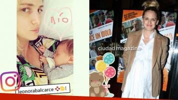 ¡La primera foto con mamá! Leonora Balcarce y la tierna postal junto a su bebé, Río