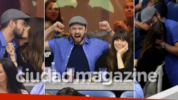 ¡Parejita fogosa! Justin Timberlake y Jessica Biel, apasionado show de besos en la platea del US Open. (Fotos: Grosby Group)