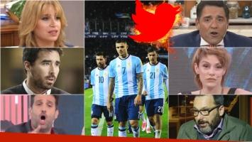 La furia de los famosos en Twitter por el empate de la Selección con Venezuela. Foto: Web/Clarín