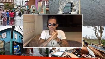 Marc Anthony pidiendo donaciones para Puerto Rico. Foto: AFP e Instagram.