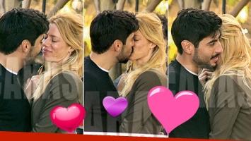 ¡Mimos infraganti! Nicole Neumann y Facundo Moyano, apasionados besos en su primer cumple mes. (Foto: revista Caras)