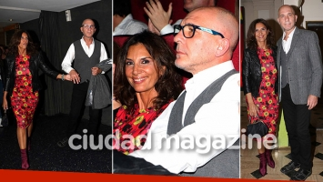 Darío Grandinetti, enamorado y de la manito con la diosa española Pastora Vega. (Foto: Movilpress)