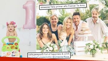 ¡Felicidad en familia! Diego Simeone y el tierno festejo de cumpleaño de su beba.