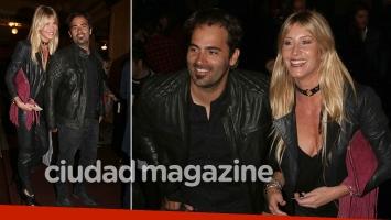 ¡Amor en el teatro Colón! Soledad Solaro, enamorada de su novio empresario en la noche porteña. (Foto: Movilpress)
