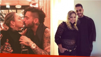 Maluma se fotografió besándose con su madre y se armó la polémica: