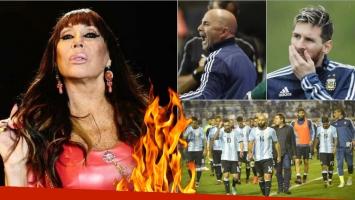Moria Casán, súper picante con la Selección: