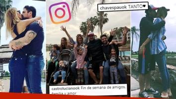 ¡Casados y enamorados! Paula, Peter, Castro y Rojas con sus hijos.
