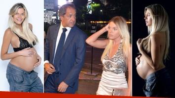 Gisela Berger y su relación con Scioli, a días de dar a luz: (Fotos: revista Gente y Web)