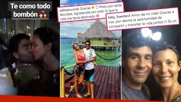 """¡Diosa enamorada! Celina Rucci, a puro romance con su nuevo novio en la paradisíaca Isla Barú: """"Gracias por tanta felicidad"""""""