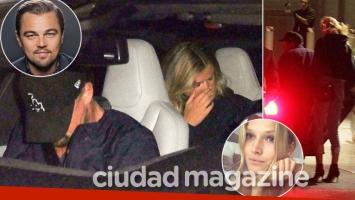 ¡Soltero reconquistado! Leonardo DiCaprio, infraganti en la noche de Los Ángeles junto a su exnovia modelo, Toni Garrn. (Fotos: Grosby Group)