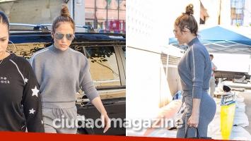 ¡Diosa a los 48! Jennifer Lopez, look deportivo y curvas súper sexies en las calles de Brooklyn. (Fotos: Grosby Group)