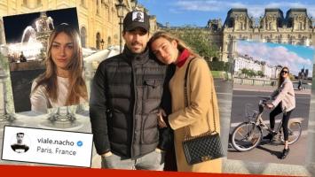 ¡Romance en París! Nacho Viale y su novia modelo, felices y enamorados en la Ciudad Luz