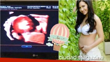 Adabel Guerrero mostró la primera ecografía de su beba: