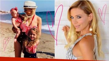 Evangelina Anderson y su look combinado con el de sus hijas: Acá con mis Demis