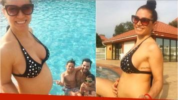 Las fotos de Adabel Guerro en bikini, embarazada de 18 semanas: Y un día llegaron las merecidas vacaciones