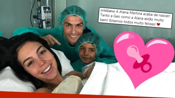¡Nueva bebé famosa! Cristiano Ronaldo fue padre por cuarta vez.