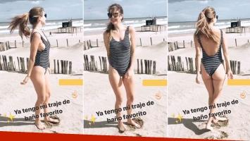¡Siempre diosa! Marcela Kloosterboer deslumbró en la playa con una malla enteriza.