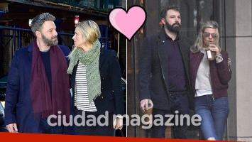 ¡Romance afianzado! Ben Affleck, amor ¿y convivencia? con su bella novia, productora de TV. (Foto: Grosby Group)