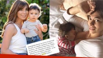 La foto súper tierna de Ximena Capristo con Félix, durmiendo la siesta tomando la teta: Así estamos hace una hora y...