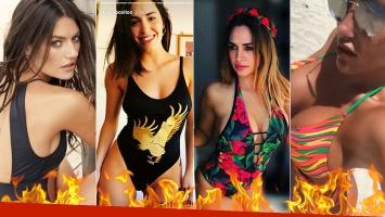 ¡Un fuego! Las diosas adelantaron el verano en traje de baño: bikinis, enterizas y originales diseños.