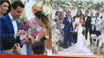 El casamiento playero de Floppy Tesouro y Rodrigo Fernández Prieto en Punta del Este