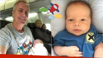 El emotivo primer viaje en avión de Marley con su hijo: Llegué solo y me voy con él