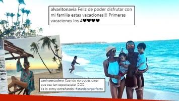 ¡Espiá las fotos! El paradisíaco relax familiar de Vanina Escudero y Álvaro Navia en Punta Cana.