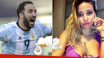 ¿Viene la cigüeña? Gonzalo Higuaín, fuertes rumores de embarazo de su novia diosa.